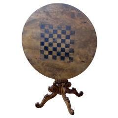 Table Tilt Top Swedish Chess Game Pedestal Sweden