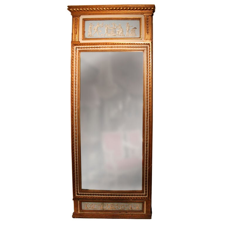 A tall swedish gustavian mirror for sale at 1stdibs for Tall mirrors for sale