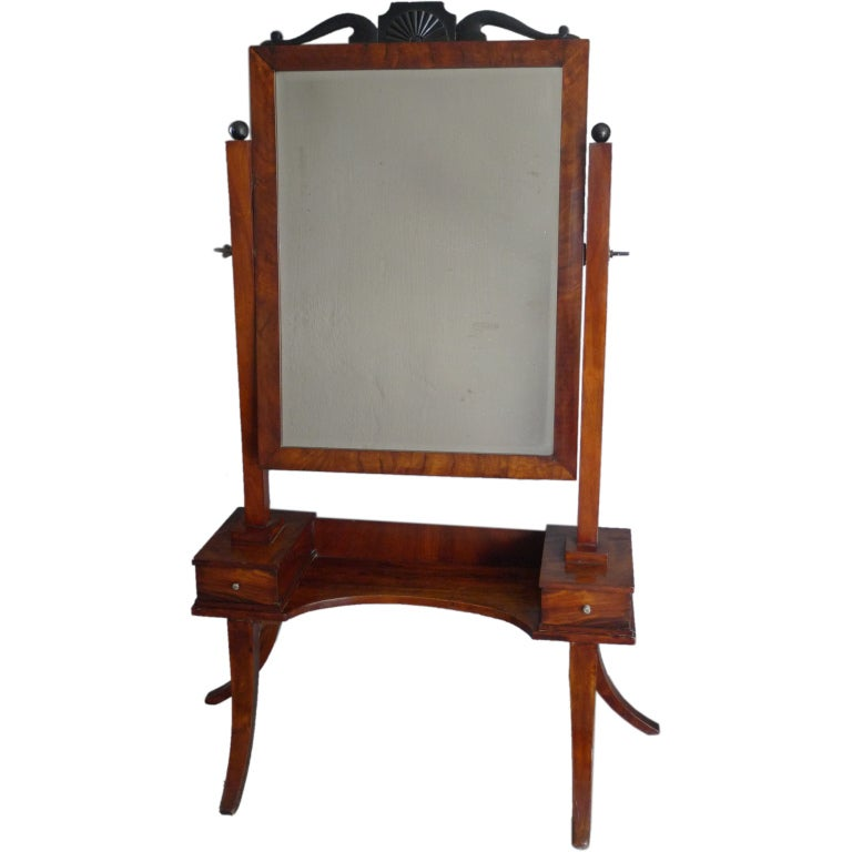 Bedroom Mirror in Mahogany For Sale at 1stdibs