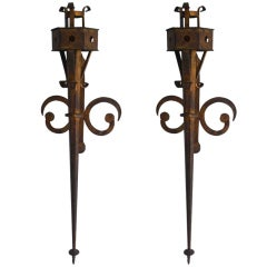 A Pair of Long Wall Sconces