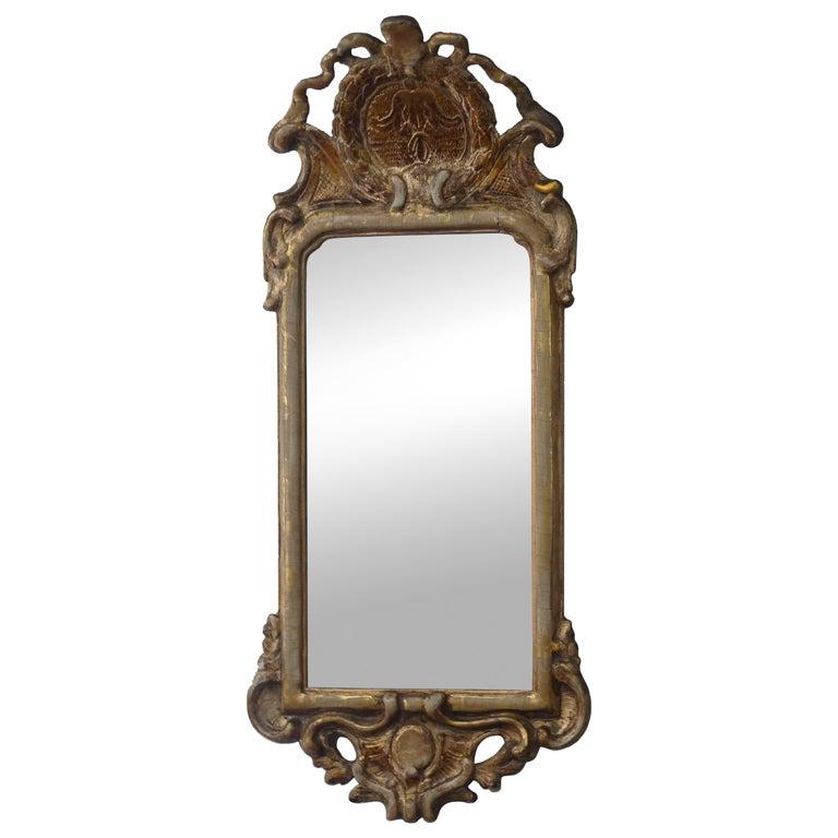 Swedish Transition Rococo/ Gustavian Mirror