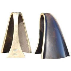 Austrian Bronze Bookends for Saks Fifth Avenue