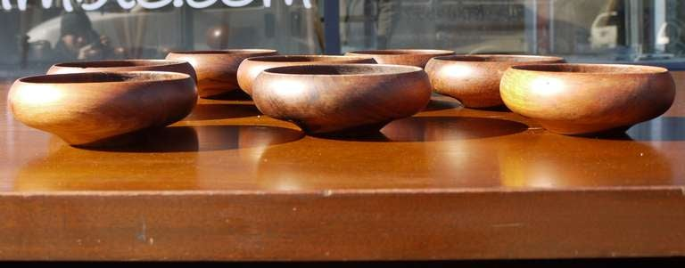 Mid-20th Century Sculptural Danish Teak Bowl Set For Sale