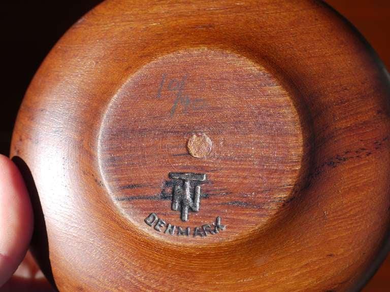 Sculptural Danish Teak Bowl Set For Sale 2