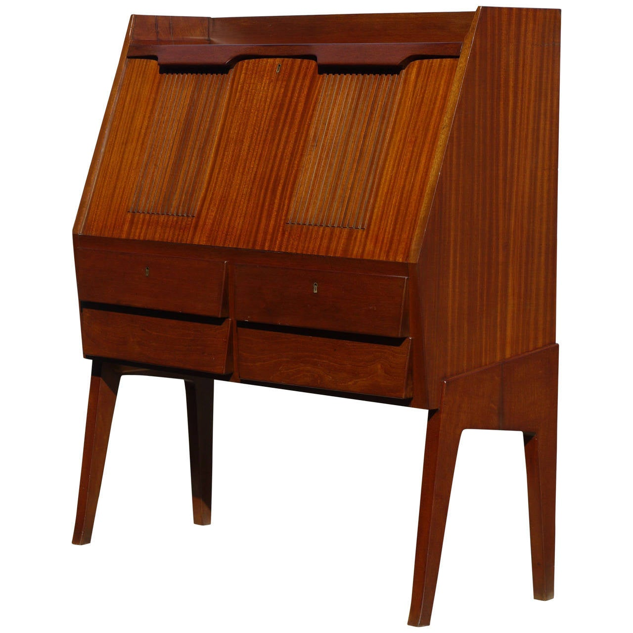 Spectacular italian modernist drop front desk for sale at