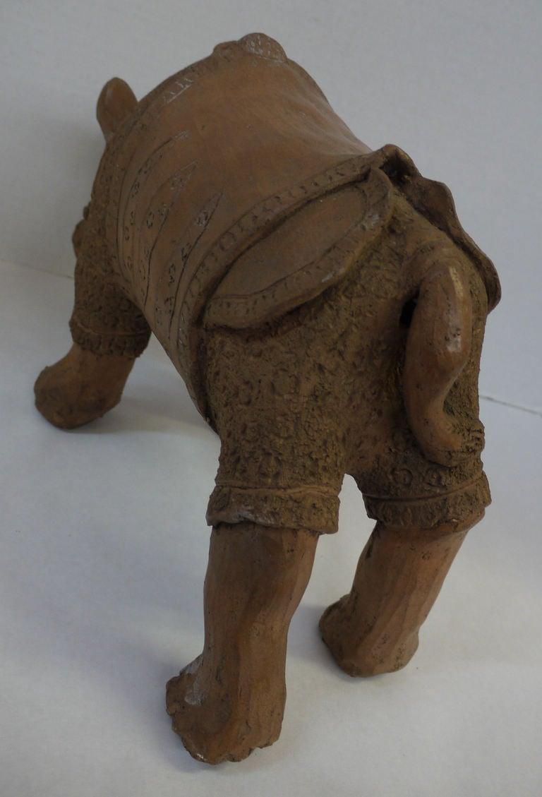 Large Studio Pottery Rhino For Sale 1