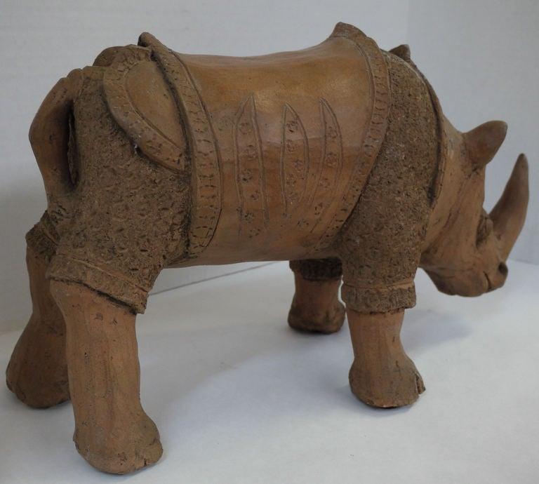 Large Studio Pottery Rhino For Sale 2