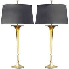 Pair of Trumpet Lamps by Chapman