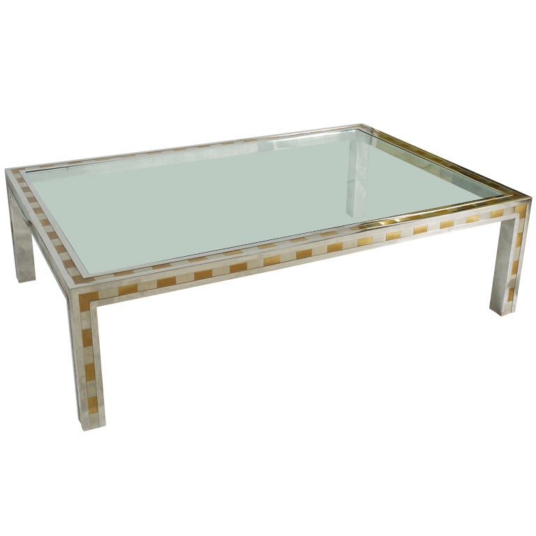 Large Studio Made Cityscape Style Parsons Coffee Table For Sale At 1stdibs