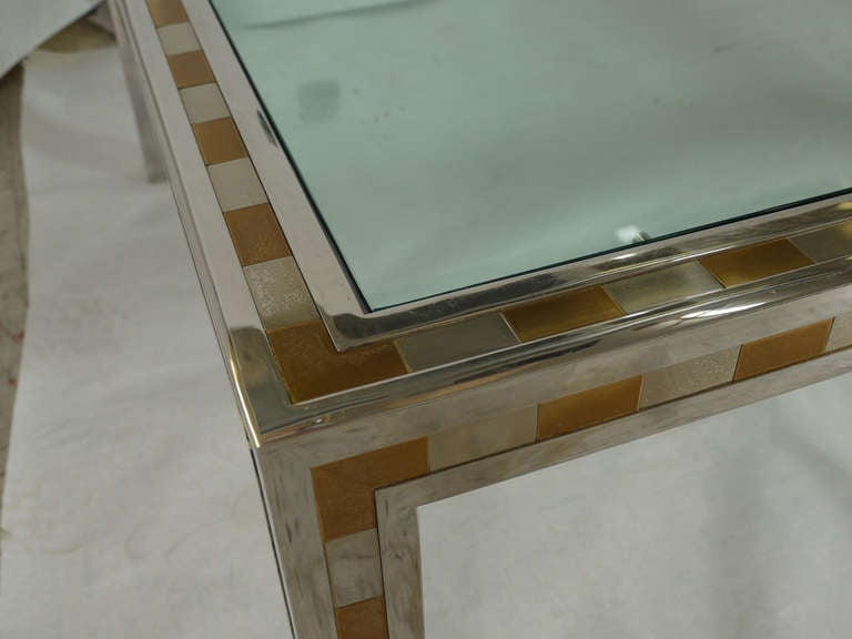 Late 20th Century Large Studio Made Cityscape Style Parsons Coffee Table For Sale