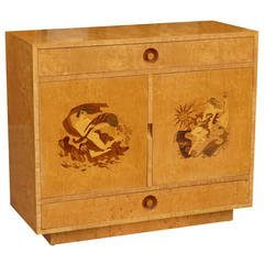 Stunning Marquetry Cabinet by Andrew Szoeke