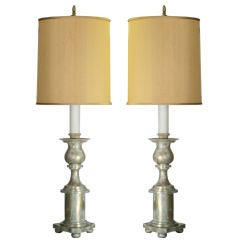 Massive Pair of James Mont Lamps