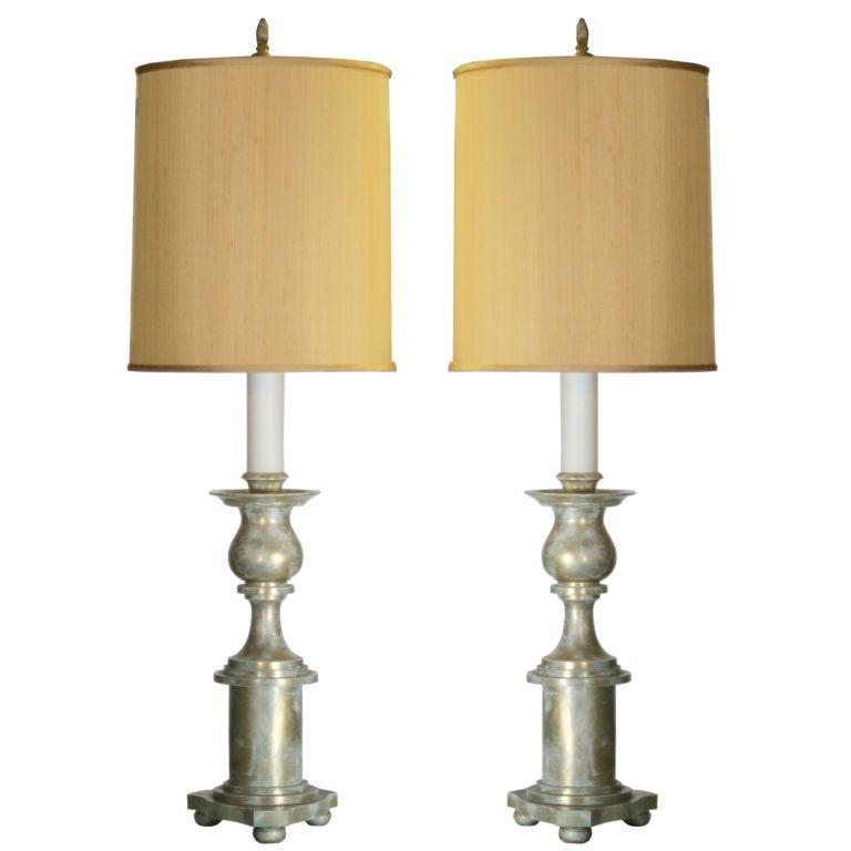 Massive Pair of James Mont Lamps 1