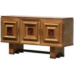 French Deco Oak Sideboard Attributed to Charles Dudouyt