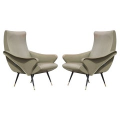 Sculptural Pair of Italian Chairs