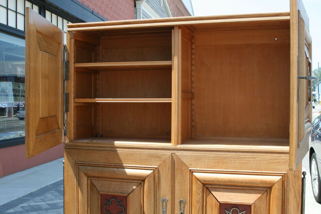 french deco oak bibliotheque attributed to charles dudouyt. Black Bedroom Furniture Sets. Home Design Ideas