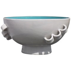 Sculptural Italian Three Handled Bowl