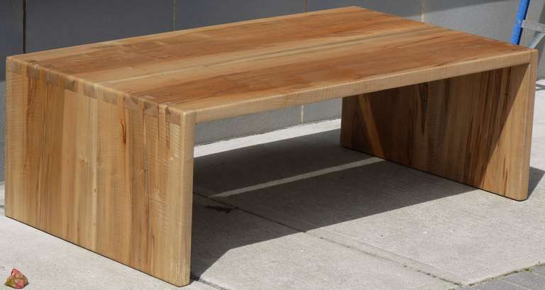 Stunning Spalted Tiger Maple Coffee Table With Dovetailed Sides Which Are Made Using The Same Board