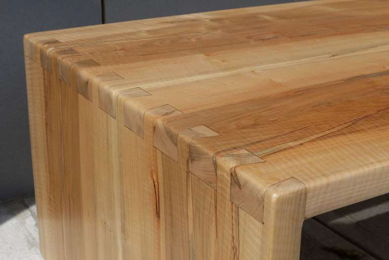 Dovetailed Spalted Tiger Maple Coffee Table For Sale at 1stdibs