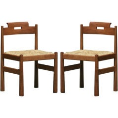 Pair of Walnut Chairs by Giovanni Michelucci