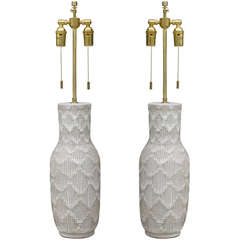 Pair of Design Technics with Incised Pattern
