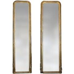 Pair of Massive Period Louis Philippe Pier Mirrors