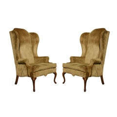 Pair of Vintage Hickory Chair Wingbacks