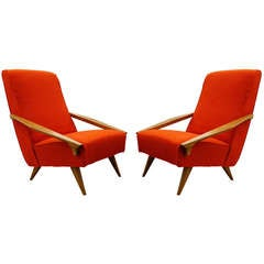 Pair of Arm Chairs attributed to Ponti