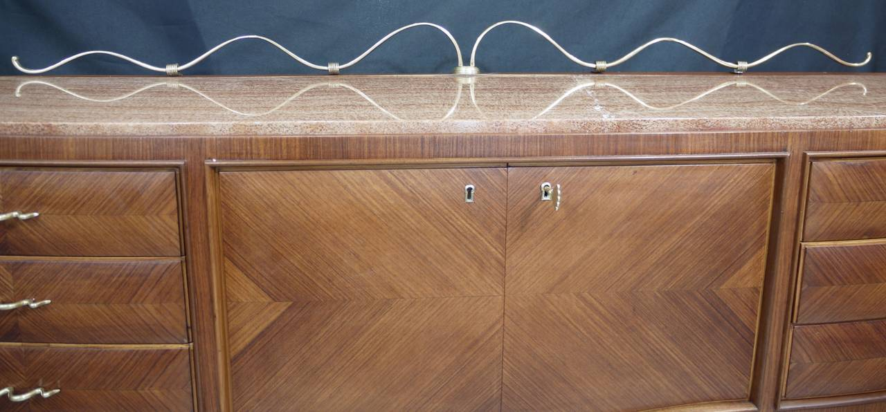 Modern Rosewood Sideboard by Paolo Buffa For Sale