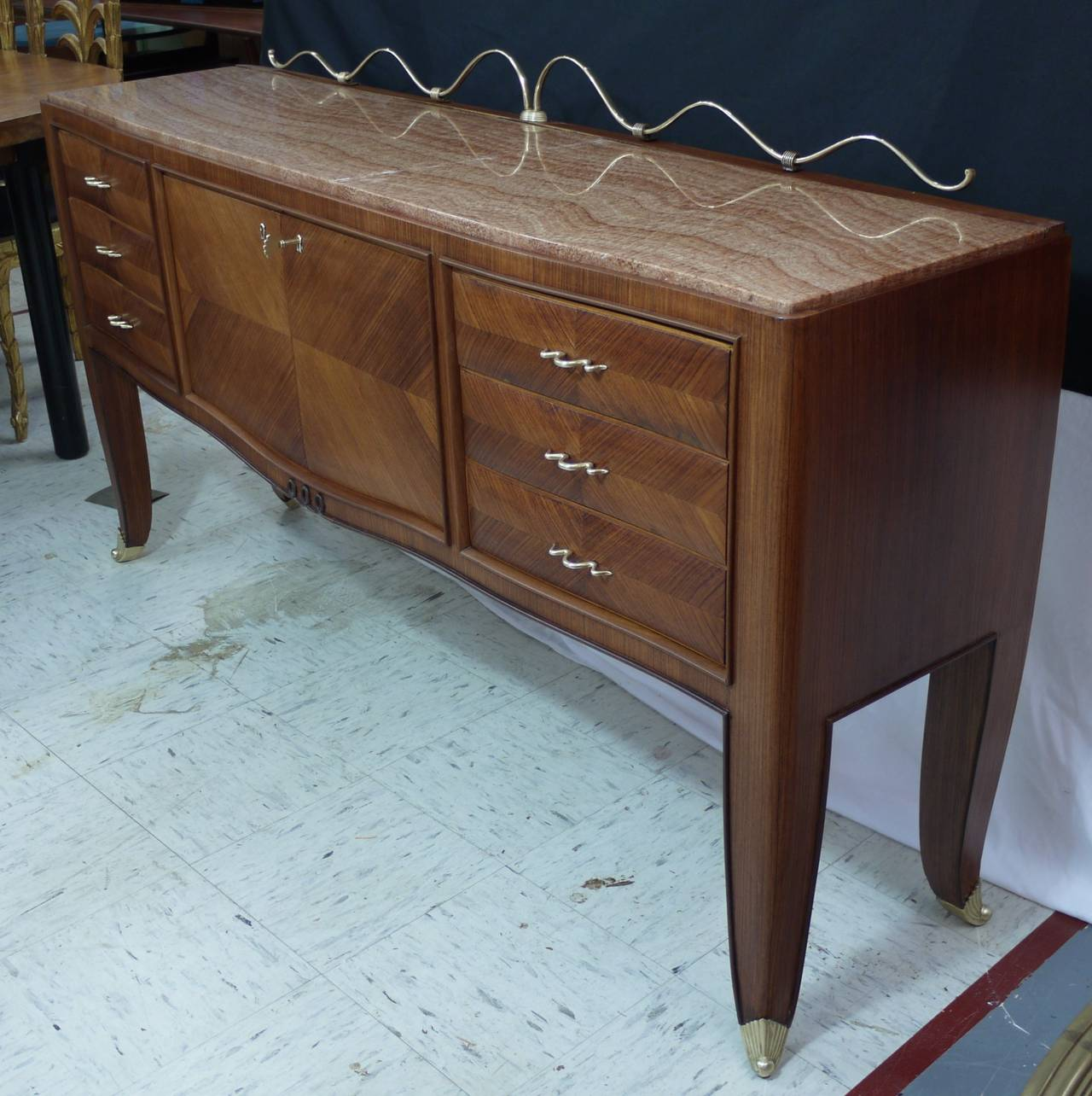 Italian Rosewood Sideboard by Paolo Buffa For Sale