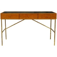 Faux Bamboo Desk by Kipp Stewart for Directional
