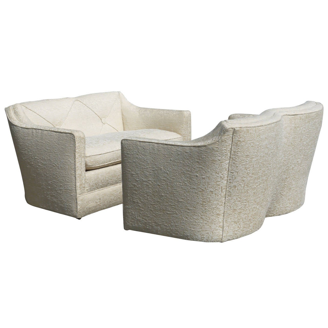 Luxurious Pair of Loveseats Attributed to Grosfeld House
