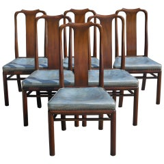 Set of Six Dining Chairs in the Style of Samuel Marx