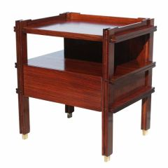 Pair of Italian Rosewood Bedside Tables