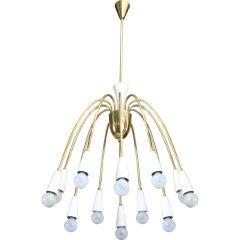 Whimsical 12 Light Italian Chandelier