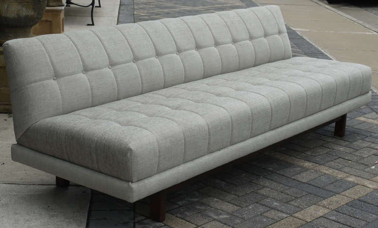 Low Profile Tufted Armless Sofa Attributed To Harvey