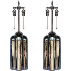 Pair of Nickel-Plated Lamps by Westwood Industries