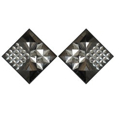 Pair of Diamond Mirrors by Verner Panton