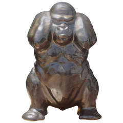 Danish Ceramic Gorilla by Emil Ruge for Dybböl