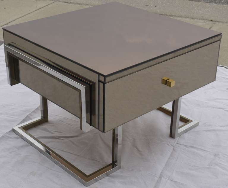 mirrored side tables by michel pigneres 2