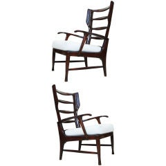 Pair of Arm Chairs by Paolo Buffa