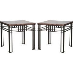 Pair of 'Atilla' Tables by Jean-Michel Wilmotte