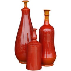 Vibrant Grouping of Italian Ceramic Vases
