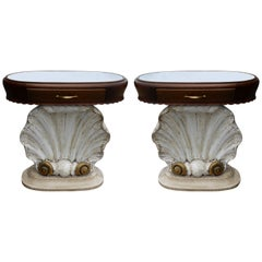 Pair of Italian Scallop Shell End Tables
