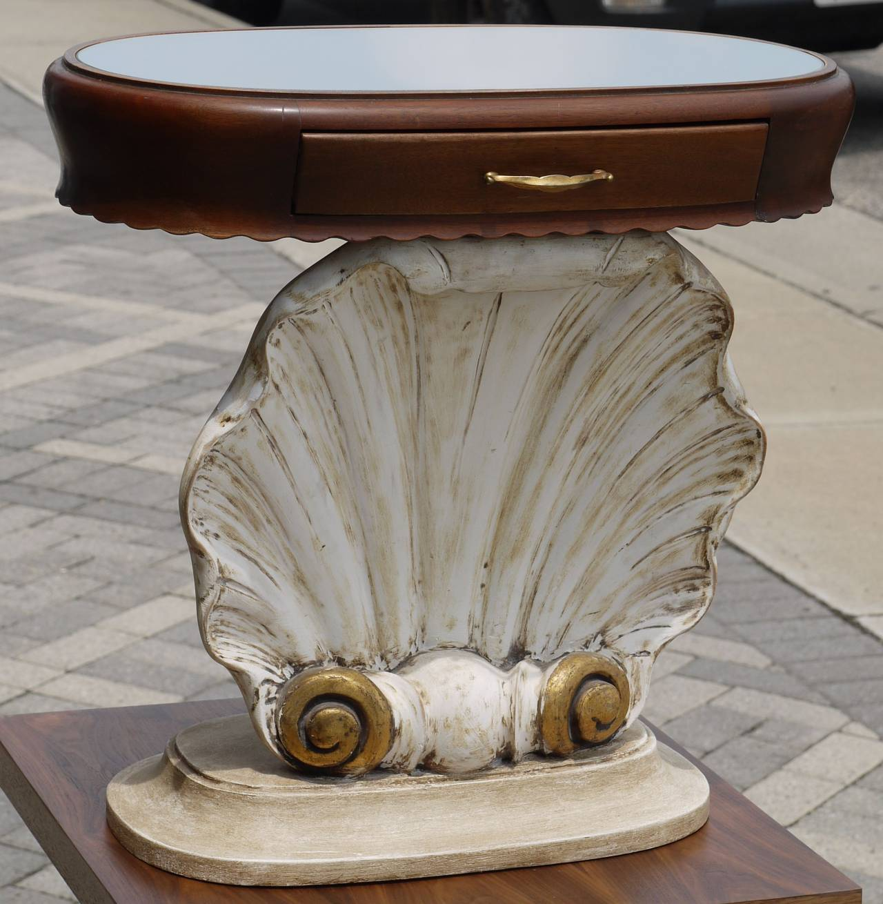 Pair of Italian Scallop Shell End Tables 2