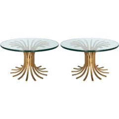 "Pair of Modernist ""Wheat Sheaf"" Coffee Tables"