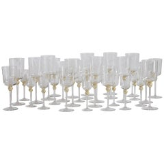 Murano Stemware Service for Ten