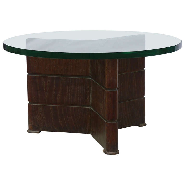 Early Coffee Table in Cerused Oak by Osvaldo Borsani