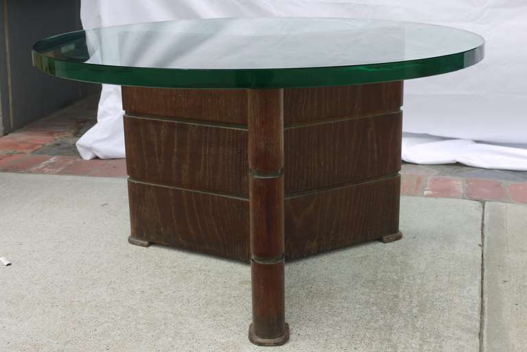 Mid-Century Modern Early Coffee Table in Cerused Oak by Osvaldo Borsani For Sale