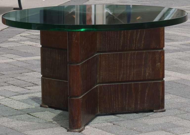Early Coffee Table in Cerused Oak by Osvaldo Borsani In Good Condition For Sale In Kilmarnock, VA